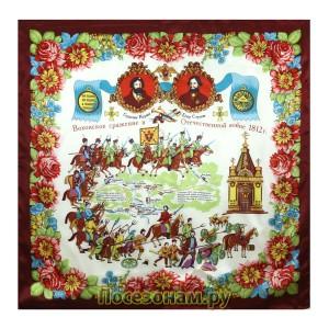 """Павловопосадский платок """"Вохонское сражение в войне 1812г."""""""