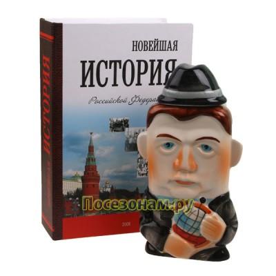 """Фляга фарфоровая """"Д. Медведев"""""""