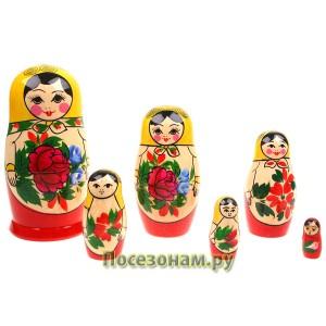 Матрешка 6-ти кукольная (традиционная роспись) хохлома
