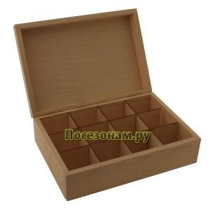 Деревянная чайная коробка 121