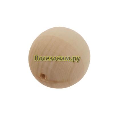 Деревянная заготовка бусинка для ожерелья 2 см