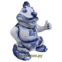 "Скульптура ""Дракон Тотошка"" символ 2012 года (гжель)"