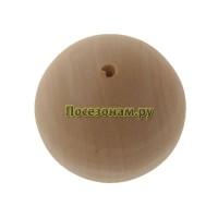 Деревянная заготовка бусинка для ожерелья 3 см