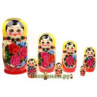 Матрешка 9-ти кукольная (традиционная роспись)