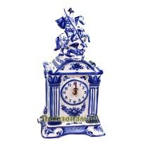 Часы «Георгий Победоносец» (гжель)
