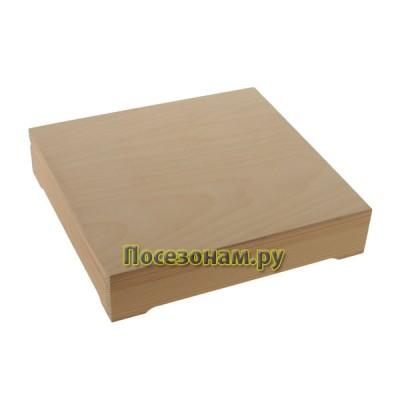 Деревянная шкатулка 23,5 х 22,5 х 5 см 125-1