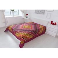 Одеяло лоскутное красное