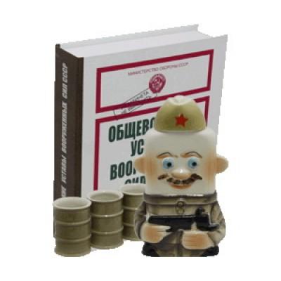 """Набор """"Солдат + 3 рюмки"""""""