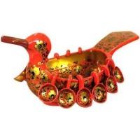 Ковш-утка с навесными ковшами, 13 предметов (хохлома)