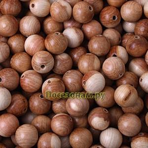 Деревянная заготовка бусинка для ожерелья 2 см (можжевельник)
