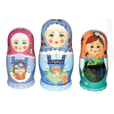 Ассортимент матрешки 5 - 12 кукольной (авторской) хохлома