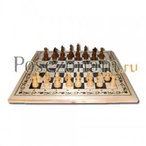 Шахматы 3 в 1 белые