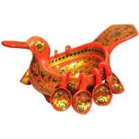 Ковш-утка с навесными ковшами, 9 предметов (хохлома)