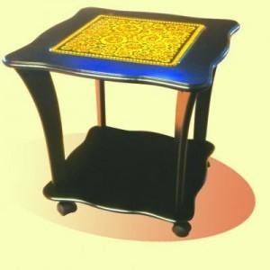 """Стол квадратный со стеклом """"Танго"""""""