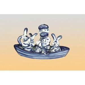 Набор специй «Дед Мазай и зайцы» (гжель)