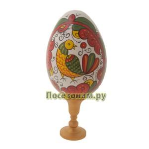 Яйцо пасхальное, расписное (на подставке)