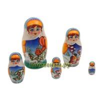 Матрешка 5-ти кукольная (авторская) хохлома
