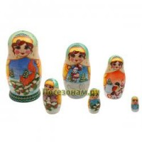 Матрешка 6-ти кукольная (авторская) хохлома