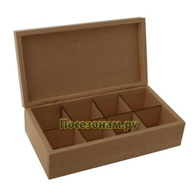 Деревянная чайная коробка 003