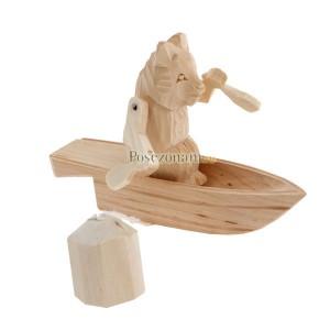 """Богородская игрушка  """"Мишка на лодке"""""""