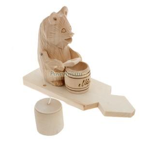 """Богородская игрушка  """"Медведь с бочонком меда"""""""