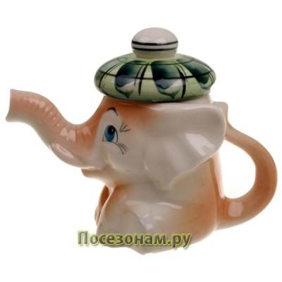 """Чайник фарфоровый """"Слоненок Митя"""" (маленький)"""