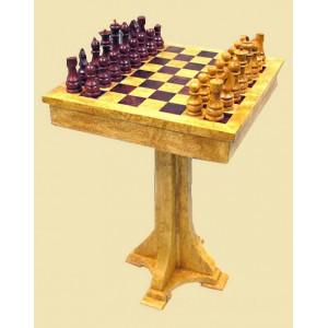 Стол шахматный из карельской березы