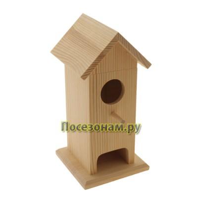 Чайный домик из дерева одинарный (скворечник) 007-1