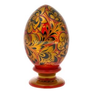 Яйцо с подставкой (хохлома)
