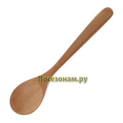 Деревянная ложка c фигурной резкой 18 см