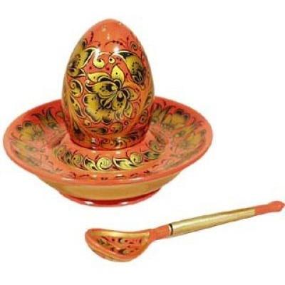 Комплект для яйца (хохлома)