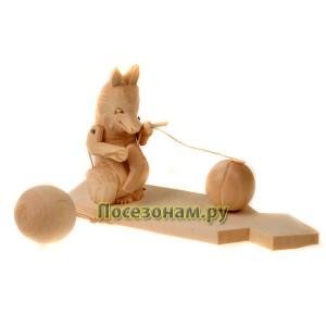 """Богородская игрушка """"Лиса вяжет носки"""""""