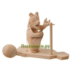 """Богородская игрушка """"Медведь играет на гитаре"""""""