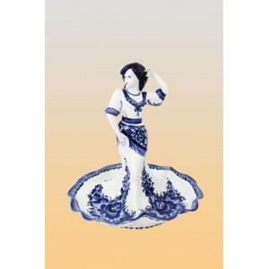 Менажница «Танцовщица» (гжель)