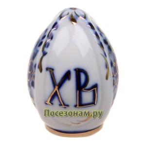 Яйцо малое (гжель, золото)