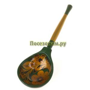 Ложка деревянная расписная полубаская (хохлома)