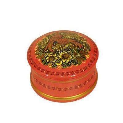 Коробка с миниатюрной хохломской росписью (хохлома)