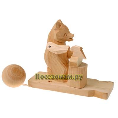 """Богородская игрушка """"Медведь рубит дрова"""""""