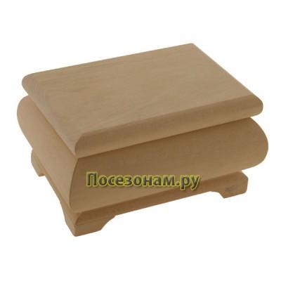 Деревянная заготовка фигурная шкатулка 13 х 10 х 7 см