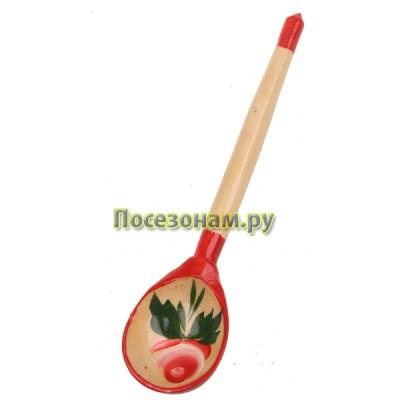 Ложка деревянная расписная детская (любительская роспись хохлома)