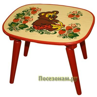 Скамейка с холодной росписью хохлома