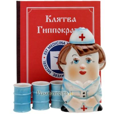 """Набор """"Медсестра + 3 рюмки"""""""