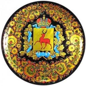 Панно декоративное с геральдикой (хохлома)