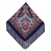 148см х 148см шерстяные с шелковой вязаной бахромой