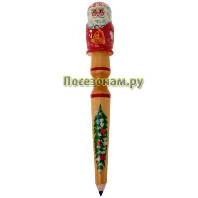 Карандаш с матрешкой 3-ой (Дед Мороз)