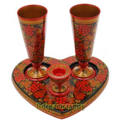 Набор свадебный - 2 (хохлома)