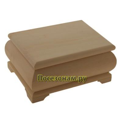 Деревянная заготовка фигурная шкатулка 20 х 15 х 9 см