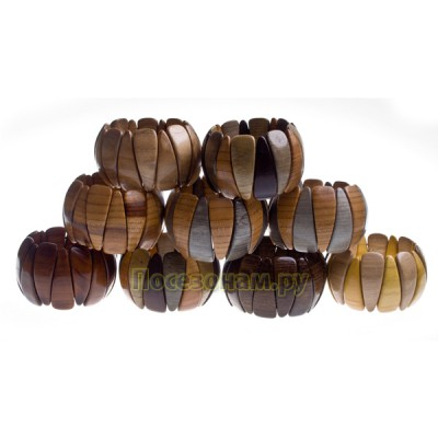 Браслет растяжной деревянный в ассортименте (цена за 1шт.)