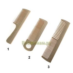 Набор деревянных расчесок (3 шт.)